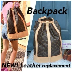 LOUIS VUITTON Backpack NEW! leather replacement